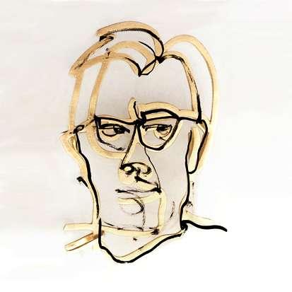 Gerard brooche in ink Pams Lab